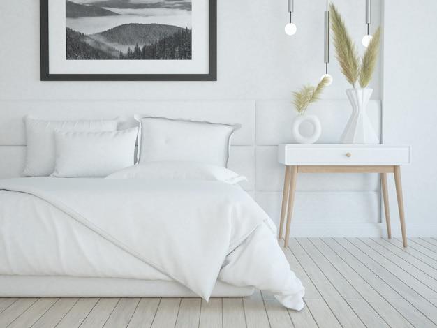 Современная элегантная роскошная белая спальня