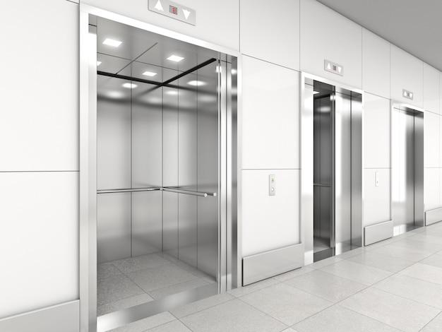 Modern elevator 3d