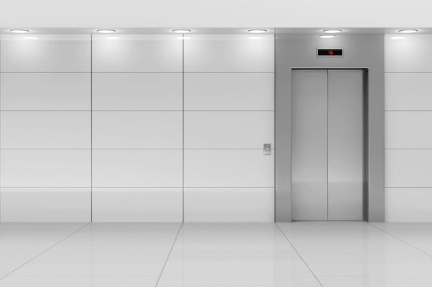 Интерьер современного лифтового зала