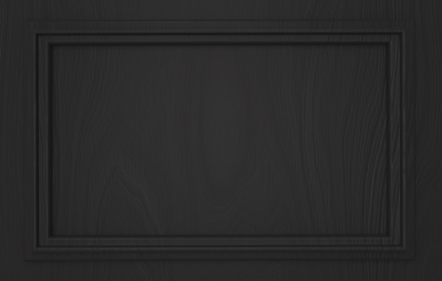 Modern empty dark classical pattern rectangle frame wall background.