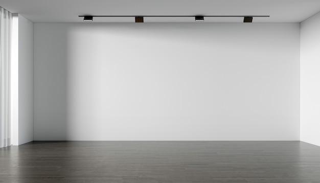 Современный пустой салон и дизайн интерьера гостиной и текстура белой стены