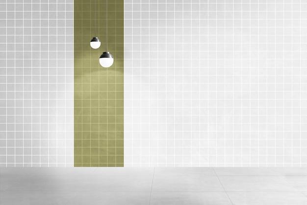 현대적인 빈 방 정통 인테리어 디자인