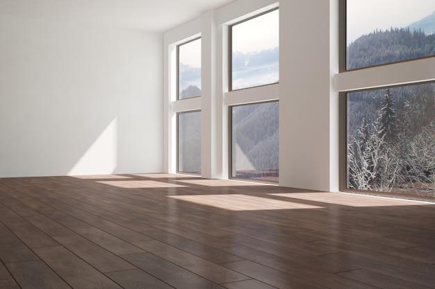 산 배경 인테리어 디자인 현대 빈 방