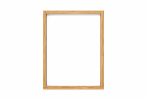 Modern empty simple vertical classic style wood picture frame