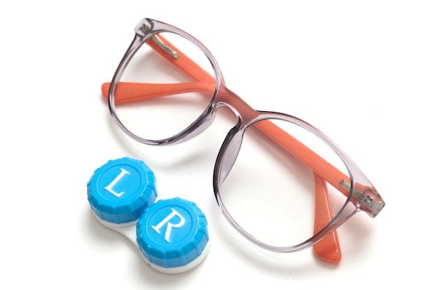 Modern eyeglasses with contact lenses
