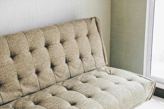 Modern fabric sofa in room