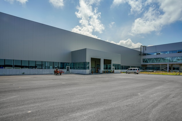 Modern factory buildings and logistics warehouses