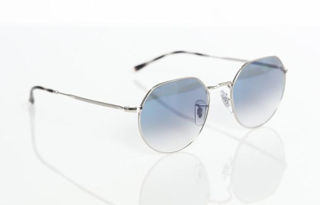 Modern fashionable eye glasses isolated on white background
