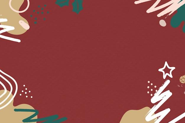 Fondo rosso strutturato di saluto di natale festivo moderno con lo spazio di progettazione