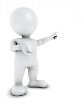 Modern figure presenting