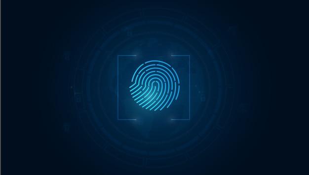 現代の指紋の背景