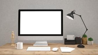 現代のフラットスクリーンコンピュータモニター