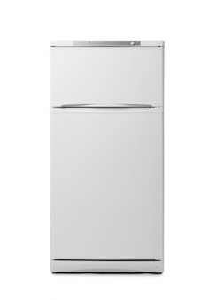 Modern fridge isolated on white