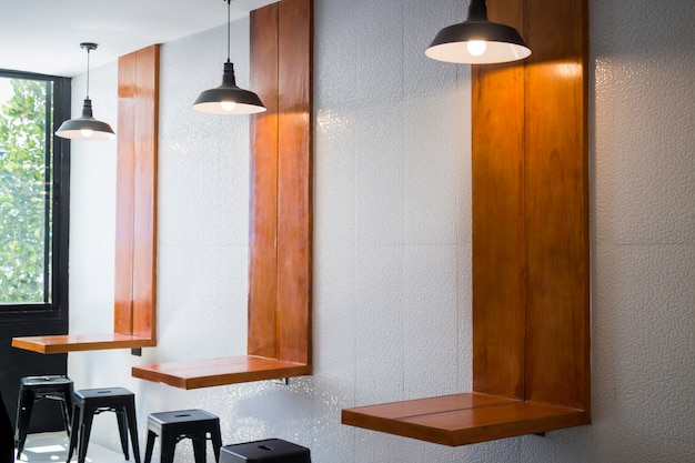 Modern furniture in indy coffee shop