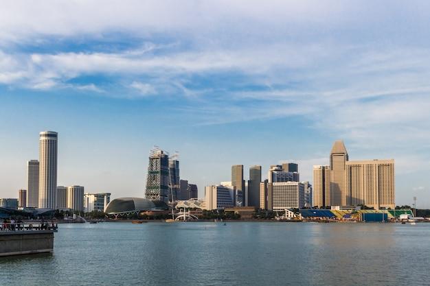 Modern futuristic buildings and blue sky