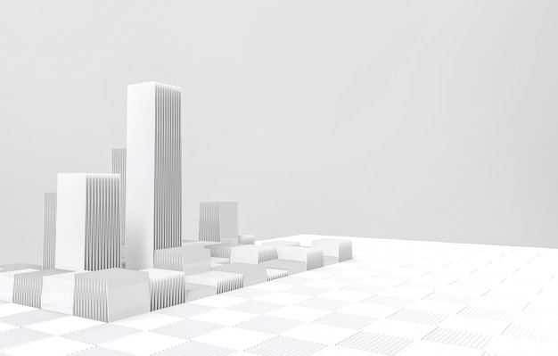 Modern futuristic gray architecture building background.