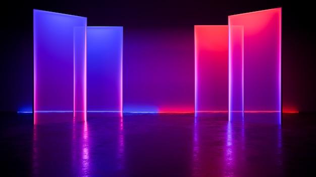 현대 미래 네온 빛 배경