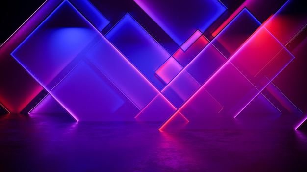 Modern futuristic neon light background
