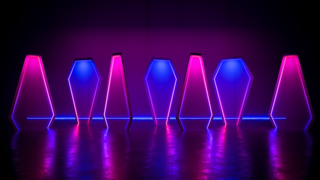 Modern futuristic neon light