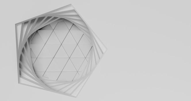 コピースペースとモダンな幾何学的背景