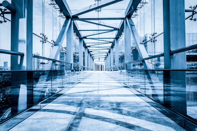 Modern glass bridge