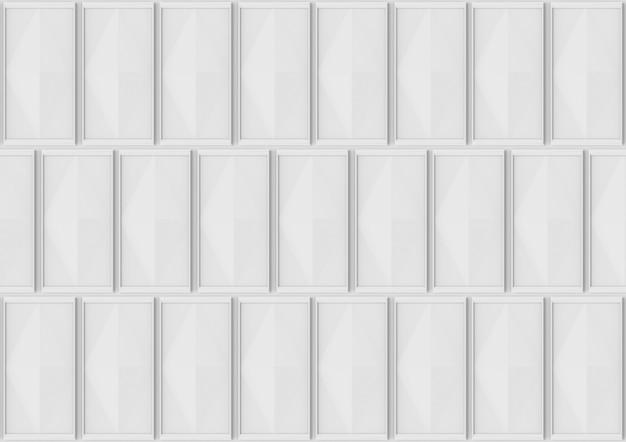 モダンなグレーのクラシックなスクエア模様の壁