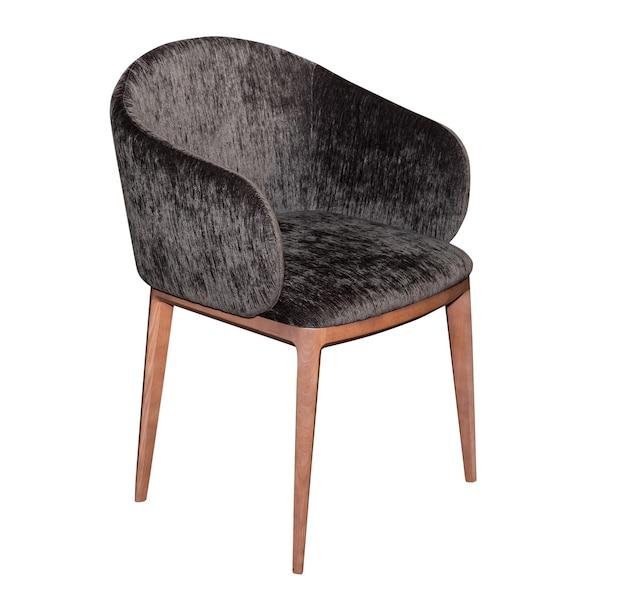 白で隔離のモダンな灰色の椅子