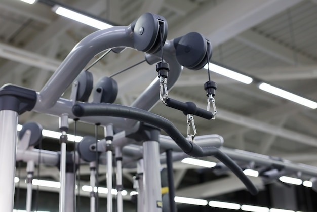 Modern gym and sports equipment.