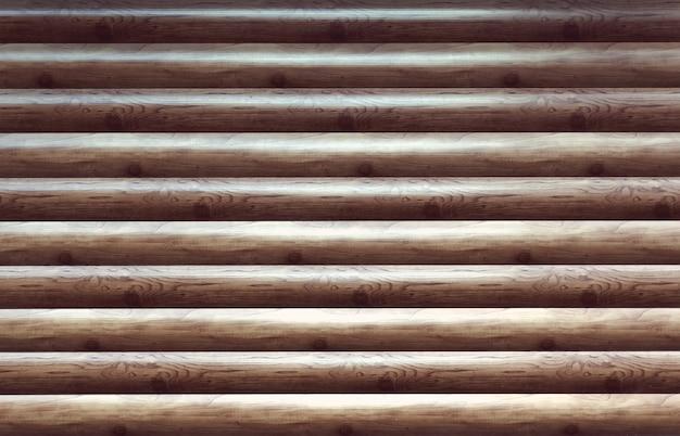 현대 손으로 깎은 자연 통나무 오두막 벽 외관 조각 질감. 소박한 로그 벽 가로 목재 배경입니다. 도색되지 않은 나무 debarked 통나무 헛간 또는 집 벽 바탕 화면의 조각. 판재