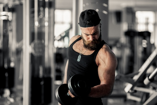 Modern handsome weight healthy biceps