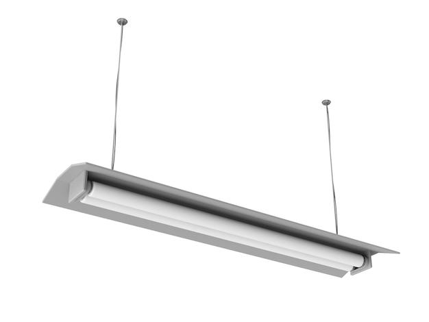 현대 교수형 램프 흰색 배경에 고립