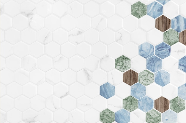 Modern hexagon tiled background