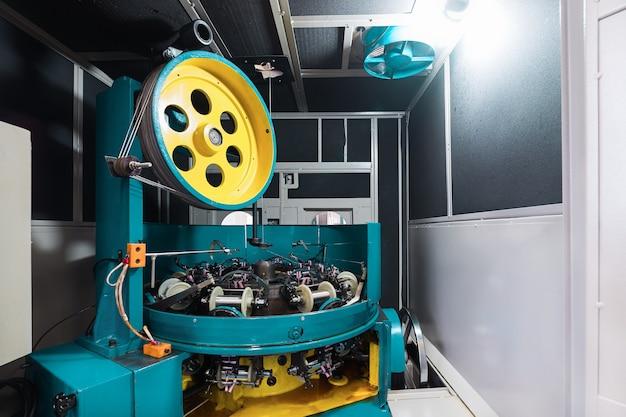 Modern high-speed braided cnc machine, inside interior