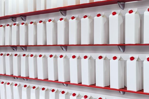 Modern high-tech cardboard packaging for milk, juice
