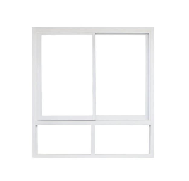 Рама окна современного дома, изолированные на белом фоне