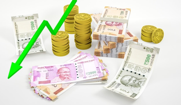 現代のインドルピー記号の投資構成