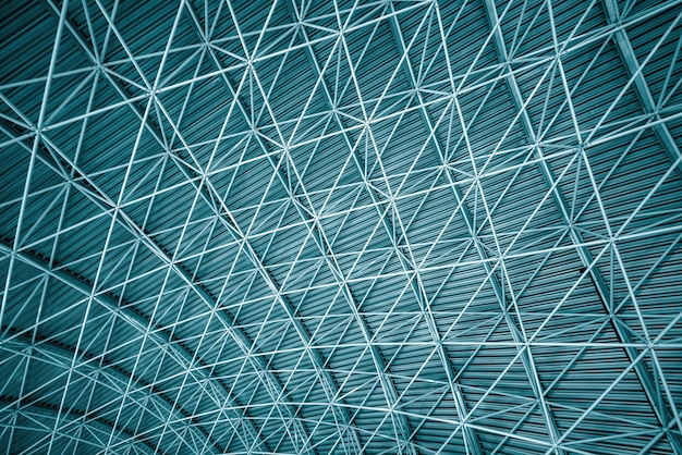 Modern Interior Architecture Of Metal Steel Roof Premium Photo