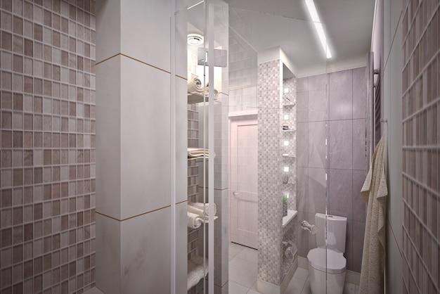 Современная интерьерная ванная в доме