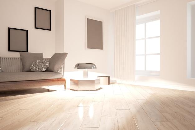 Современный дизайн интерьера. 3d иллюстрации