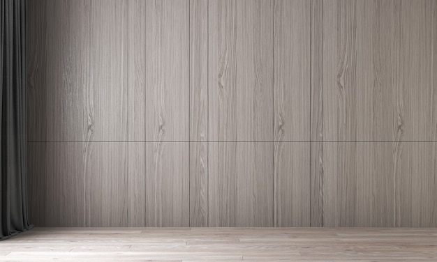 Modern interior design and mock up room of empty living room and wood wall texture