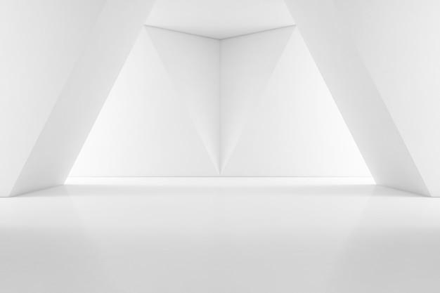 빈 바닥으로 쇼룸의 현대적인 인테리어 디자인