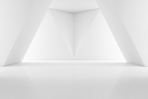 Modern interior design of showroom with empty floor
