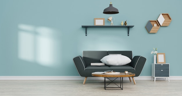 Modern interior living room. 3d rendering