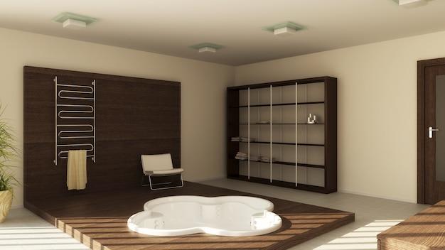 バスルームのモダンなインテリア
