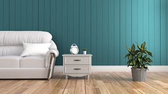 Modern interior of living room empty room. 3D rendering