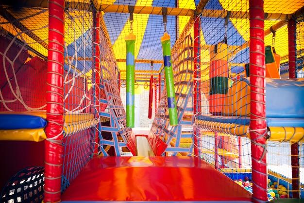 Modern kids playground for active children outdoors