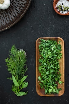 Modern kitchen composition with healthy ingredients Free Photo
