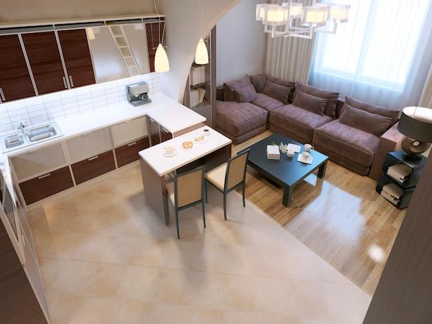 Modern kitchen design and living design