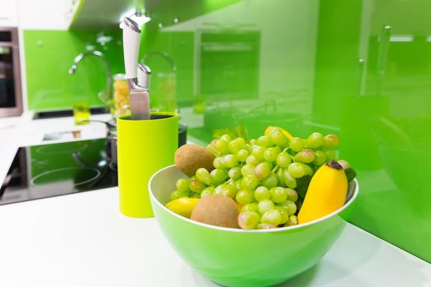 Modern kitchen interior shot with studio light