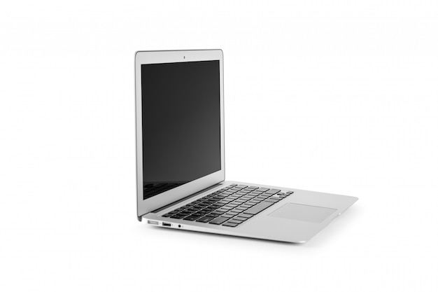 Modern laptop computer isolated on the white background
